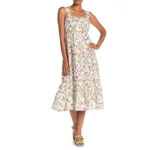 MAX STUDIO Sleeveless Tiered Floral Dress